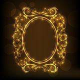 Concept of floral design decorated frame. Royalty Free Stock Photos