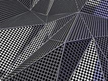 Concept foncé de fond pointillé par résumé de carbone 3d illustration de vecteur