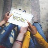 Concept fonctionnant de carrière de profession de recrutement de travail Photo stock