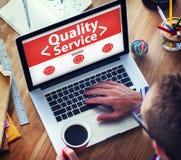 Concept fonctionnant de Digital de bureau en ligne de service de qualité photo stock