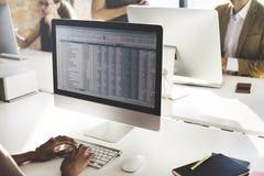 Concept fonctionnant de stat de statistiques de comptabilité d'entreprise image stock