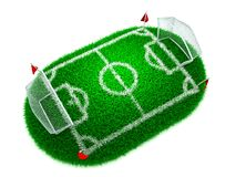 Concept Football. 3D Concept Football on White Background vector illustration