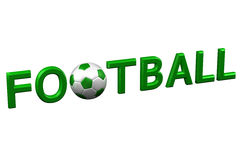 Concept: Football. 3D rendering. Stock Images