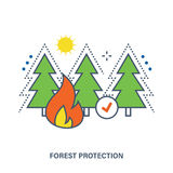 Concept of forest fire protection. Royalty Free Stock Photos