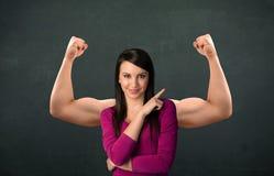 Concept fort et musculeux de bras images stock
