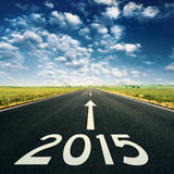 Concept - Forward to 2015 new year
