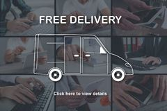Concept of free delivery Stock Photography