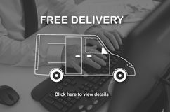 Concept of free delivery Royalty Free Stock Images