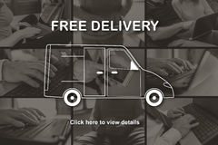 Concept of free delivery Stock Photo