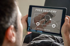 Concept of free delivery Royalty Free Stock Image