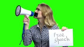 Concept freedom of speech and press. stock video