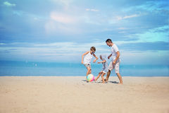 Concept of friendly family. Royalty Free Stock Photos