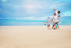Concept of friendly family. Royalty Free Stock Photography