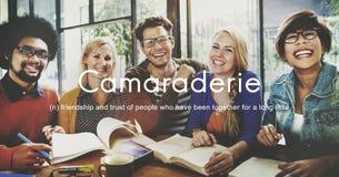 Concept froid insouciant d'unité d'amis de camaraderie Photo libre de droits
