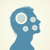 Concept of the Function Human Head. Vector Illustration Royalty Free Stock Photo