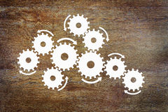 Concept the functioning of a complex mechanism. Abstract image royalty free stock photo
