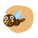 Concept of funny cute bee. Royalty Free Stock Photos