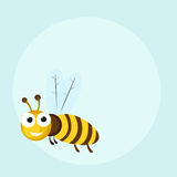 Concept of funny cute wasp. Royalty Free Stock Photography