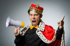 Concept with funny man Royalty Free Stock Photography