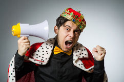 Concept with funny man Royalty Free Stock Photo