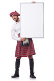 Concept with funny scotsman isolated on white Stock Photography