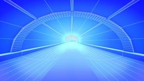 Tunnel. Concept future city skyline. Futuristic business vision concept. 3d illustration. Stock Image