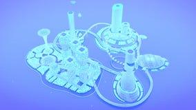 Concept future city skyline. Futuristic business vision concept. 3d illustration. Royalty Free Stock Photos