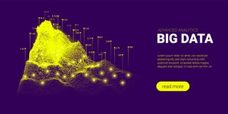 Concept futuriste d'analyse de Big Data illustration libre de droits
