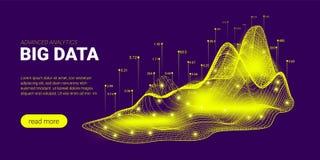 Concept futuriste d'analyse de Big Data illustration stock