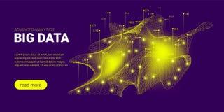 Concept futuriste d'analyse de Big Data illustration de vecteur