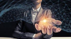 Concept futuriste de connexion sans fil Photographie stock libre de droits