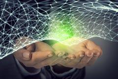 Concept futuriste de connexion sans fil Images stock
