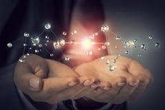 Concept futuriste de connexion sans fil Image stock