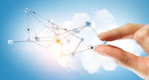 Concept futuriste de connexion sans fil Media mélangé Images stock