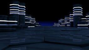 Concept futuriste de pièce de serveur dans le datacenter Image stock