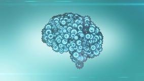 Concept futuriste de steampunk de cerveau Photographie stock libre de droits