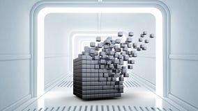 Concept futuriste de technologies Media mélangé Images libres de droits