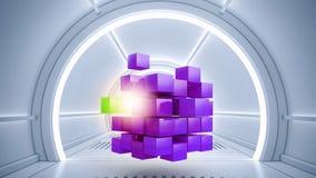 Concept futuriste de technologies Media mélangé Images stock
