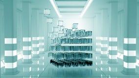 Concept futuriste de technologies Media mélangé Image libre de droits