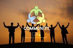 Concept généralisé de réseau de connexion d'unité de la Communauté Photo stock