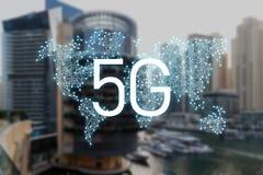 concept 5g de technologie de connexion internet image stock