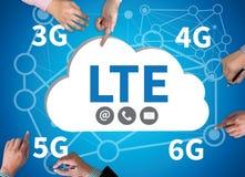 CONCEPT 3g 4g 5g 6g de LTE Image stock