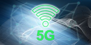 Concept of 5g. Illustration of a 5g concept stock illustration