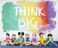 Concept gai d'ethnie multi de bonheur d'enfants d'enfants Images stock