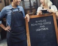 Concept gai de collègue occasionnel de café de coupure Photo stock