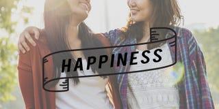 Concept gai de la vie de plaisir optimiste heureux de bonheur Photographie stock libre de droits