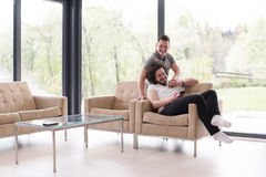 Concept gai de maison d'amour de couples Photographie stock libre de droits