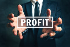 Concept of gaining business profit Royalty Free Stock Photo