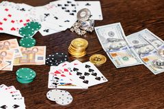 Concept : gambling in the modern world royalty free stock photos