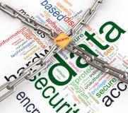 Concept gegevensveiligheid Stock Foto's